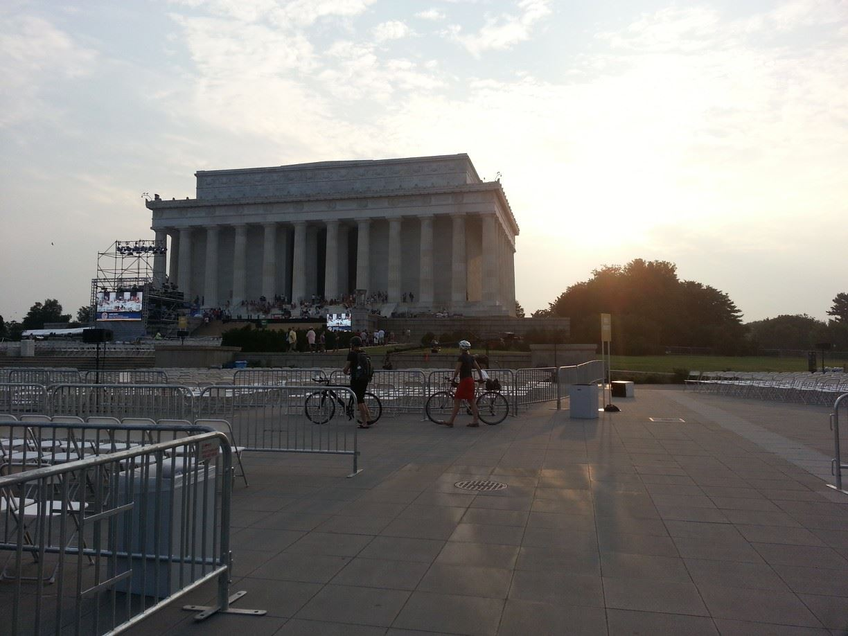 Lincoln Memorial day before