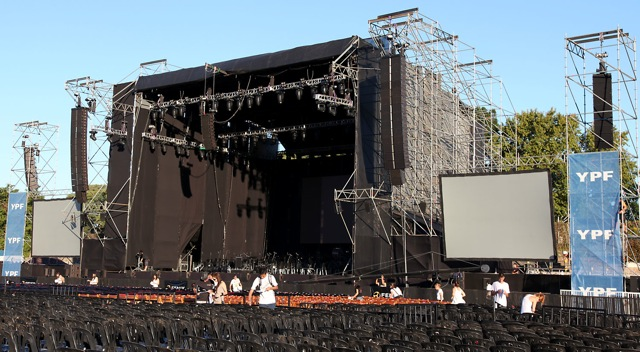 Andrea Bocelli K1 setup at Buenos Aires, Argentina.