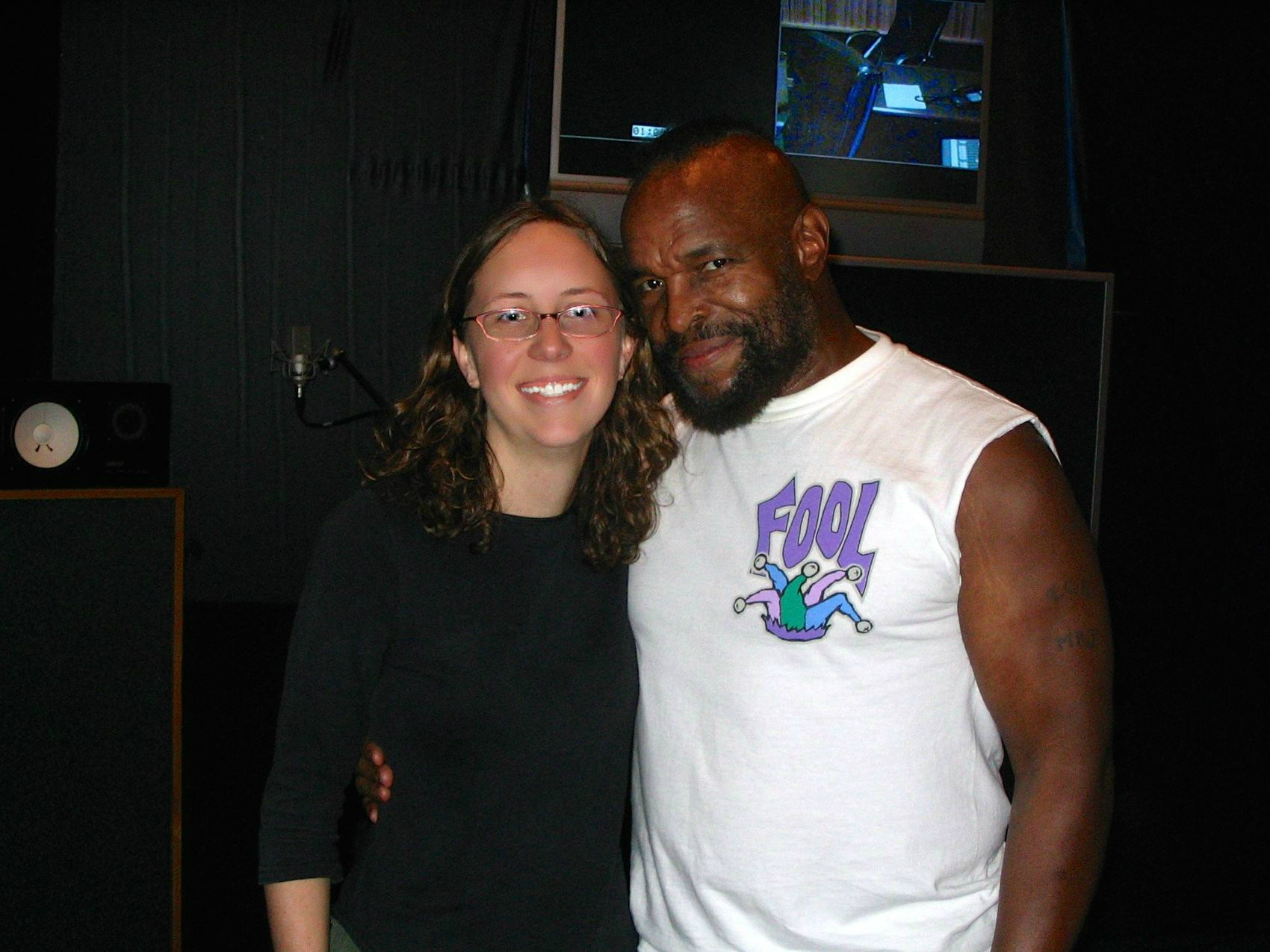 April and Mr. T