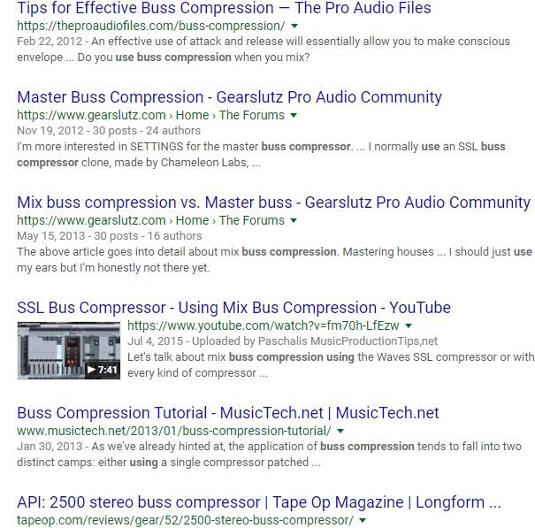 Why We Don't Use Buss Compression – SoundGirls org