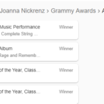 "Women & The Grammy For ""Producer of The Year, Classical"""
