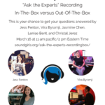Ask the Experts Recording - In-The-Box versus Out-Of-The-Box